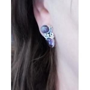 Cercei argint - EAR 193 ametist