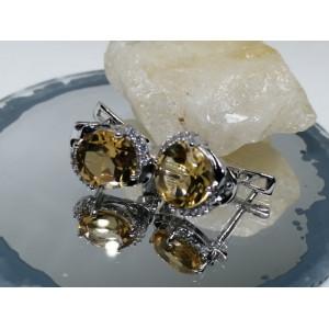 Cercei argint Honey Quartz-VE014676