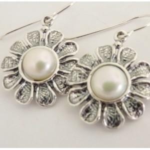 Cercei argint perla E3234