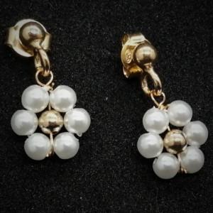 Cercei argint placati cu aur -cod E21 1246 -2571
