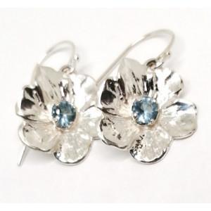 Cercei argint -topaz  E9697
