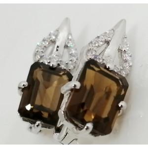 Cercei argint -VE013917 whisky quartz