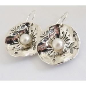 Cercei din argint perla E3450
