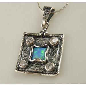 Colier argint -A20959 opal