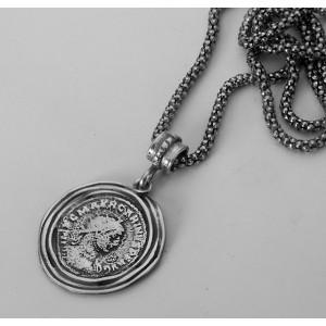 Colier argint N2325-Inspiratie Monede Vechi