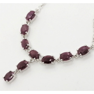 Colier LORI argint rubin -VNCK015832