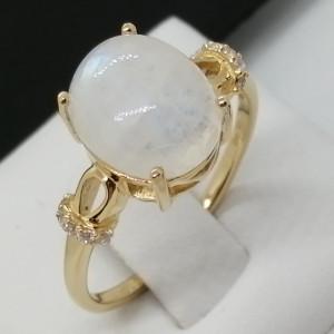 Inel Afrodita-argint placat si aur -piatra lunii VR014176