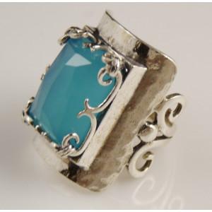 Inel argint blue ocean quartz R2989