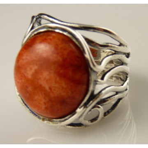 Inel argint coral-R888