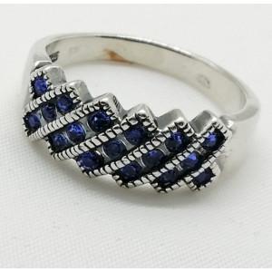 Inel argint delicat R3511- blue quartz