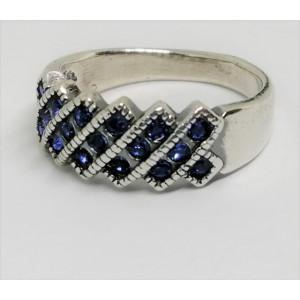 Inel argint delicat R751- Blue quartz