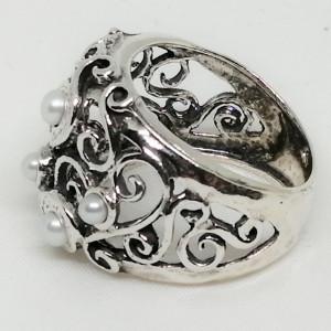 Inel argint perla R5136