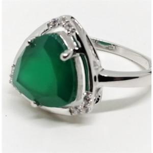 Inel argint VR016161-onix verde