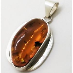 Pandantiv argint chihlimbar P811-1
