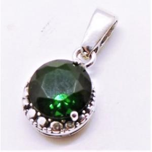 Pandantiv argint -green quartz-P2828