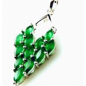 Pandantiv argint VP020112-onix verde