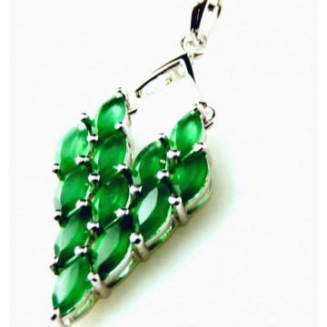 Pandantiv argint VP020112-piatra onix verde