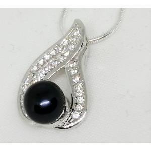 Pandantiv delicat din argint -perla neagra- VP029598-1481