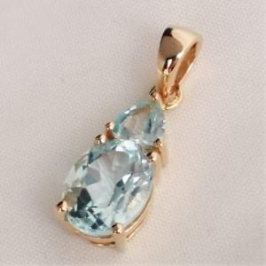 Pandantiv Roxana-argint placat cu aur galben - VP017156 topaz
