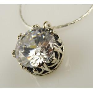 Colier din argint- zircon N4376