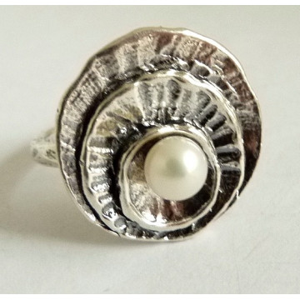 Inel argint perla -R2085