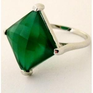 Inel argint onix verde -VR017031