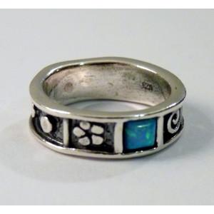 Inel argint vintage style R623 OPAL