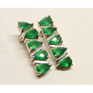 Cercei argint -VE019948 onix verde