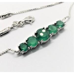 Bratara argint onix verde -VB018406- 21cm lungime