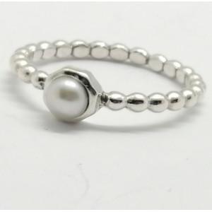 Inel din argint cu perla de cultura- R11729