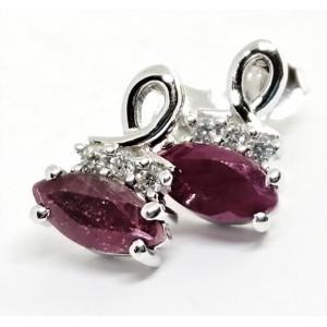 Cercei din argint cu surub VE010751 rubin