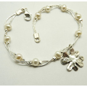 Bratara argint perle -B5067-2