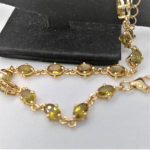 Bratara Nicole -argint placat cu aur si nano zultanit VB032687
