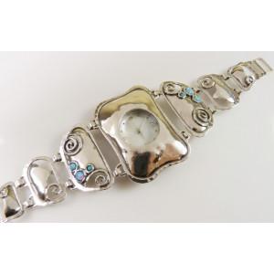 Ceas argint cadran rotund W3841 opal
