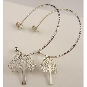 Cercei argint creole -ORCC0014RHA-arborele vietii