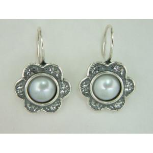 Cercei argint cu perla E1203