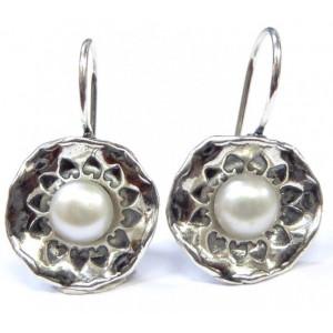 Cercei argint  cu perla E3336