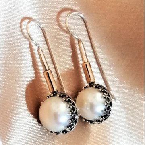 Cercei argint cu perla -E3788
