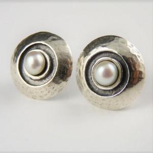 Cercei argint cu surub perla-E9225