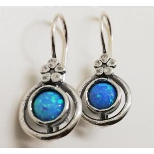 Cercei argint opal E672