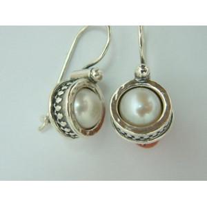 Cercei argint perla -E714