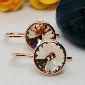 Cercei argint placati cu aur roz -E14 2180 -2120