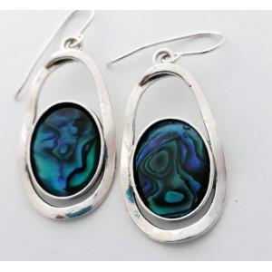 Cercei din argint abalone E3255