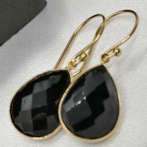 Cercei Ronda -argint placat cu aur VE017554 onix