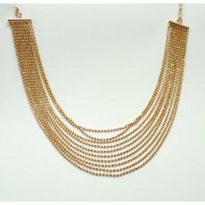 Colier argint -placat cu aur roz- CTSB0813PLROS