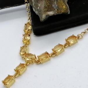 Colier Sandra -argint placat si aur - VNCK015832 citrin