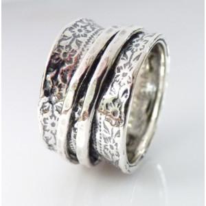 Inel argint cu verigi pivotante-R735