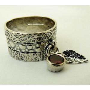 Inel argint granat R2482
