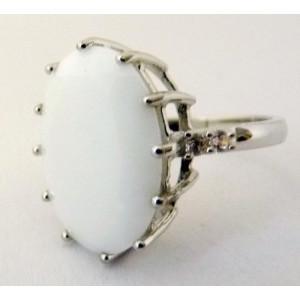 Inel argint onix alb -VR018130
