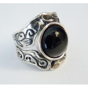 Inel argint onix R1272